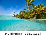 stunning one foot island in... | Shutterstock . vector #311261114