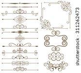 antique decorative elements ... | Shutterstock .eps vector #311262473
