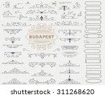 kit of vintage elements for...   Shutterstock .eps vector #311268620