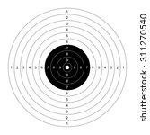 blank template for sport target ... | Shutterstock .eps vector #311270540