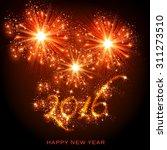 New Year 2016 Easy Editable
