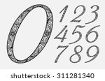 stylish italic numbers in the... | Shutterstock .eps vector #311281340