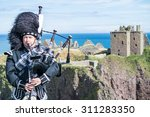 traditional scottish bagpiper... | Shutterstock . vector #311283350