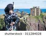 traditional scottish bagpiper... | Shutterstock . vector #311284028