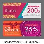 gift voucher template. | Shutterstock .eps vector #311301263