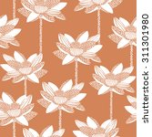 floral seamless pattern with... | Shutterstock .eps vector #311301980