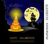 halloween banner. landscape... | Shutterstock .eps vector #311302370