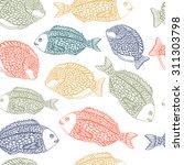 sea pattern with ocean fish. | Shutterstock .eps vector #311303798
