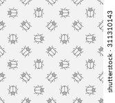 bugs seamless pattern   vector... | Shutterstock .eps vector #311310143