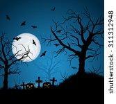 halloween night vector... | Shutterstock .eps vector #311312948
