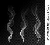 light cigarette smoke waves on... | Shutterstock .eps vector #311317178
