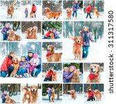 photo collage of winter walks... | Shutterstock . vector #311317580