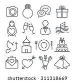 wedding line icons | Shutterstock .eps vector #311318669
