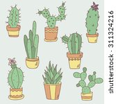 houseplant hand drawn icon set. ... | Shutterstock .eps vector #311324216