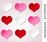 white red and pink valentine... | Shutterstock .eps vector #311339318