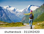 hitchhiking tourism concept.... | Shutterstock . vector #311342420