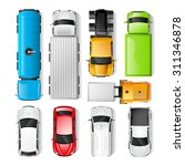 realistic cars and trucks top... | Shutterstock .eps vector #311346878