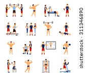 gym coach and personal trainer... | Shutterstock .eps vector #311346890