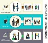 teamwork horizontal banner set... | Shutterstock .eps vector #311348990