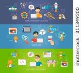 web banner horizontal set with... | Shutterstock .eps vector #311349200