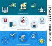 banking marketing horizontal... | Shutterstock .eps vector #311349254