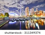 Toronto Skyline At Night In...