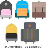 five variations of colorful... | Shutterstock .eps vector #311350580