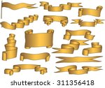 the set of golden premium... | Shutterstock .eps vector #311356418