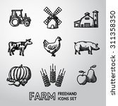 set of farm freehand icons  ... | Shutterstock .eps vector #311358350