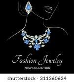 outline sketch of elegant woman ... | Shutterstock .eps vector #311360624
