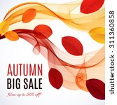 big autumn sale. fall sale... | Shutterstock .eps vector #311360858