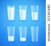 transparent realistic glasses... | Shutterstock .eps vector #311361680