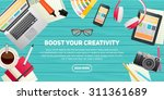 flat design illustration... | Shutterstock .eps vector #311361689