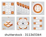 collection of 6 orange color... | Shutterstock .eps vector #311365364