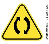 rounded triangle shape hazard... | Shutterstock .eps vector #311367128