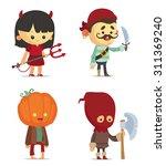 halloween characters | Shutterstock .eps vector #311369240