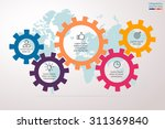 infographics in the form of... | Shutterstock .eps vector #311369840