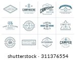 set of vector camping camp... | Shutterstock .eps vector #311376554