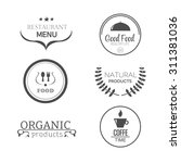 food and products emblems... | Shutterstock .eps vector #311381036