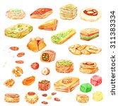 ramadan kareem. eid al adha.... | Shutterstock . vector #311383334