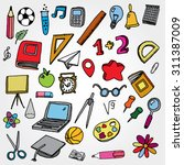 school stuff icons colorfull | Shutterstock .eps vector #311387009