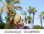 portrait from back of male... | Shutterstock . vector #311389004