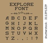 vector monospaced font design... | Shutterstock .eps vector #311391329