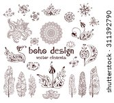 Set Of Ornamental Boho Style...