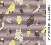 owl pattern | Shutterstock .eps vector #311392853
