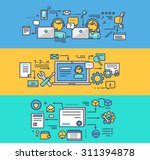 call center and technical... | Shutterstock .eps vector #311394878