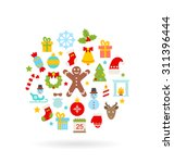 illustration christmas colorful ... | Shutterstock .eps vector #311396444