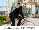 perfect day for cycling to work.... | Shutterstock . vector #311396810