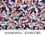 texture fabric of butterfly for ... | Shutterstock . vector #311401280