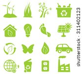 eco and environment icon set | Shutterstock .eps vector #311402123